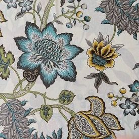 jacobean-flai-turquoise: Indoor/Outdoor Fabric