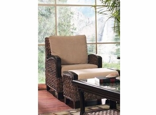 Kensington seagrass Chair  (ottoman Not included)