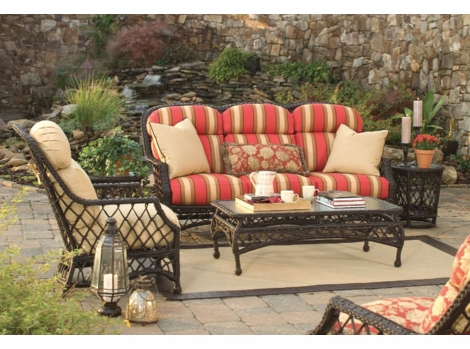 Lane Venture Camino Real High Back Collection - Buy Lane Venture Outdoor Wicker Furniture At Wicker Paradise