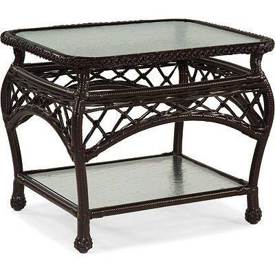 Lane Venture Camino Real Rectangular End Table-clear glass