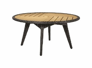 """Lane Venture Cooper Outdoor Wicker 60"""" Round Dining Table :USE COUPON CODE LANE FOR 50% OFF"""