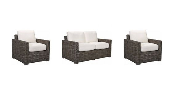 Lane Venture Fillmore Outdoor Wicker Set of 3 - Loveseat and 2 Chairs - USE COUPON CODE LANE FOR 50% OFF