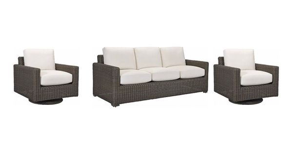 Lane Venture Fillmore Outdoor Wicker Set of 3 -1 Sofa and 2 Swivel Glider Chairs - USE COUPON CODE LANE FOR 50% OFF