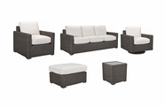 Lane Venture Fillmore Outdoor Wicker Set of 5- Sofa, Chair, Swivel Chair, Ottoman, Accent Table: USE COUPON CODE LANE FOR 50% OFF