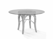 Lane Venture Four Seasons White 48 Inch Round Dining Table-sold
