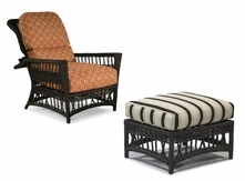 Lane Venture Harbor Breeze Outdoor Wicker Morris Chair and Ottoman - Sold