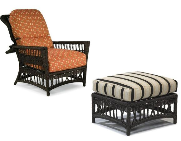 Lane Venture Harbor Breeze Outdoor Wicker Morris Chair and Ottoman - USE COUPON CODE: LANE for 50% OFF