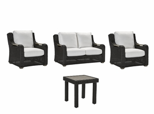 Lane Venture Hemingway Cay Outdoor Wicker - 2 Chairs, Loveseat, End Table Set - USE COUPON CODE LANE FOR 50% OFF