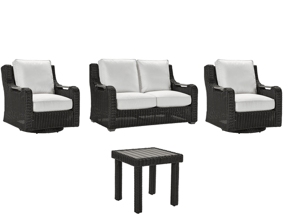 Lane Venture Hemingway Cay 2 Swivel Glider Chairs, Loveseat, End Table Set - USE COUPON CODE LANE FOR 50% OFF