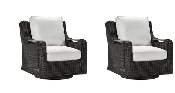 Lane Venture Hemingway Cay Outdoor Wicker -  2 Swivel Glider Chairs - USE COUPON CODE LANE FOR 50% OFF