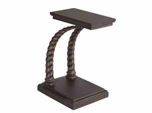 Lane Venture Hemingway Elk Horn Accent Table with Casters
