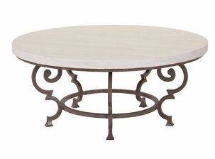 Lane Venture Hemingway Florentine Round Cocktail Table