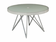 Lane Venture Jewel 48 Inch Round Dining Table with Umbrella Hole  - USE COUPON CODE LANE FOR 50% OFF