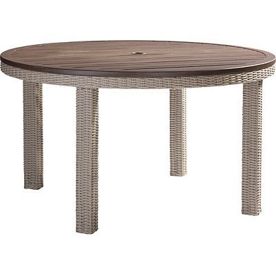 52 Round Table.Lane Venture Requisite Wicker 52 Round Dining Table