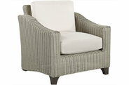 Lane Venture Requisite Wicker Lounge Chair-Shown in Bone