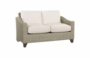 Lane Venture Requisite Wicker Loveseat-Shown in Bone