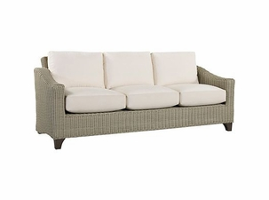 Lane Venture Requisite Wicker Sofa-Shown in Bone