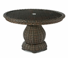 "Lane Venture South Hampton 48"" Round Glass Top Dining Table"