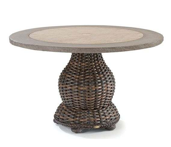 "Lane Venture South Hampton 50"" Round Composite Top Dining Table"