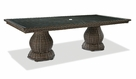 "Lane Venture South Hampton 96"" Long Glass Top Dining Table"