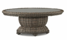 Lane Venture South Hampton Glass Top Oval Coffee Table