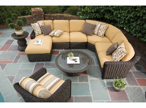Lane Venture South Hampton Sectional Collection - Buy Lane Venture Outdoor Wicker Furniture At Wicker Paradise