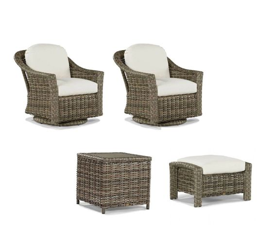 Lane Venture St Simons Set of 4- 2 Swivel Gliders, Ottoman and End Table - USE COUPON CODE LANE FOR 50% OFF