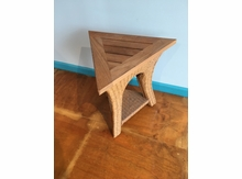 LaneVenture  Teak and Wicker End Table