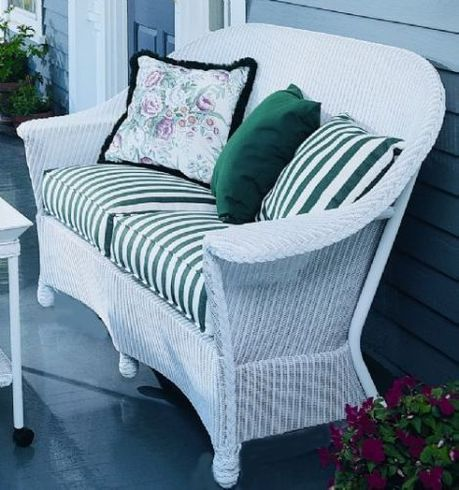 Lloyd Flanders Front Porch Replacement Cushions: Loveseat Bottom Cushions Only