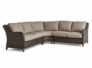 Marco Island Outdoor Wicker 3 Piece Sectional