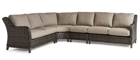 Marco Island Outdoor Wicker 4 Piece Sectional
