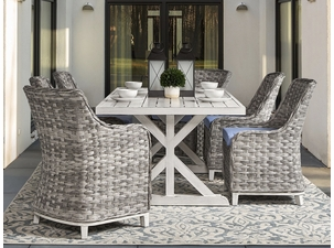 Marco Island Outdoor Wicker Dining Set of 7