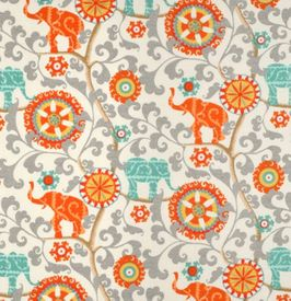 menagerie-cayenne: indoor/outdoor fabric  1/2