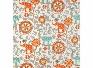 menagerie-cayenne: indoor/outdoor fabric