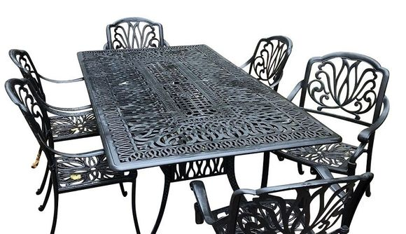 Monterey Aluminum Dining set Of 7
