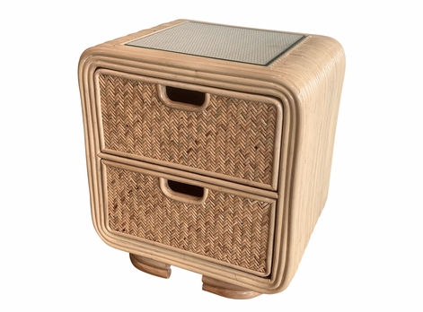Monterey Rattan 2 Drawer Nightstand