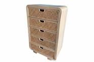 Monterey Rattan 5 Drawer Chest