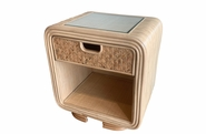 Monterey Rattan One Drawer Nightstand  sold