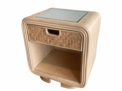 Monterey Rattan One Drawer Nightstand
