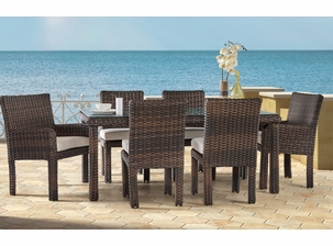 Napa Outdoor Wicker Dining Set Of 7