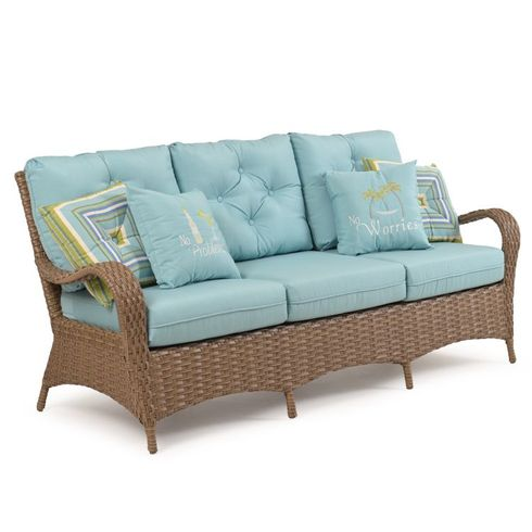 Alexandria Outdoor Wicker Sofa - Oyster Finish