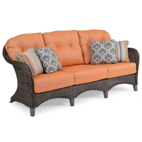 Island Way Outdoor Wicker Sofa - Vintage Walnut Finish