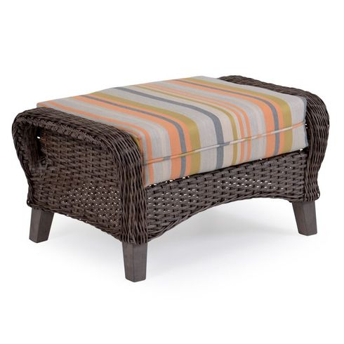 Island Way Outdoor Wicker Ottoman - Vintage Walnut Finish