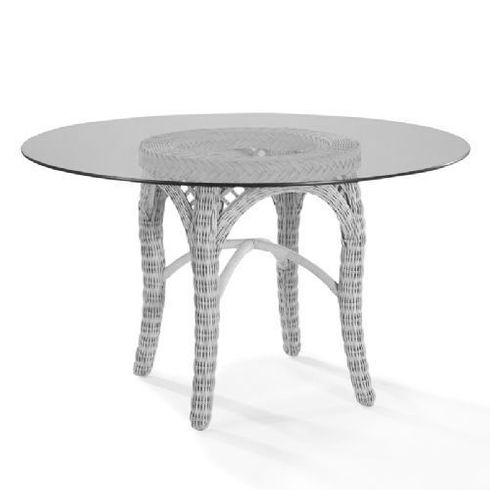 Lane Venture Four Seasons White 48 Inch Round Dining Table
