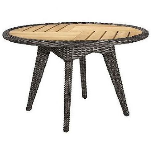 """Lane Venture Cooper Outdoor Wicker 48"""" Round Dining Table :USE COUPON CODE LANE FOR 50% OFF"""
