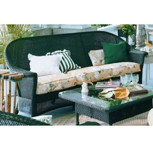 Lloyd Flanders Front Porch Replacement Cushions: Sofa Bottom Cushions Only