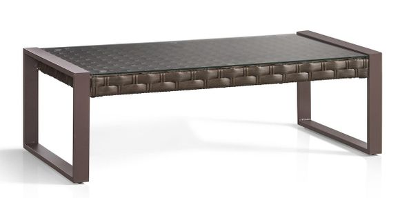 Sorrento Outdoor Wicker Coffee Table with Glass Top