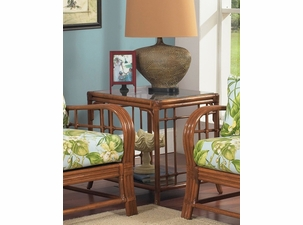 Oak Brook Rattan End Table