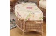Orange Beach Rattan Ottoman and a Half