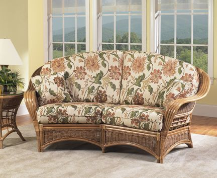 Orange Beach Rattan Loveseat